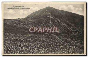 Old Postcard Riesengebirge Schneekoppe Vom Rubezhlgarten