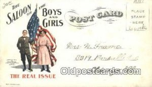Christian Temperance Union Chicago, USA Prohibition writing on back writing o...