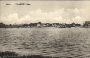 Pocasset Cape Cod MA Homes on Shore c1910 Postcard