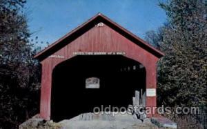 Roseville Bridge Coxville, IN USA Covered Bridge, Bridges, Post Card Post Car...