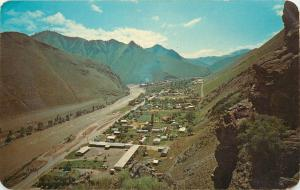 Vintage Postcard; Air View Riggins Idaho County on the Salmon River ID Unposted