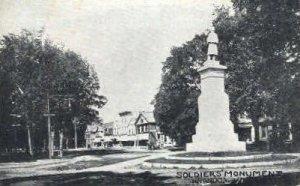 Soldiers Monument - Brandon, Vermont