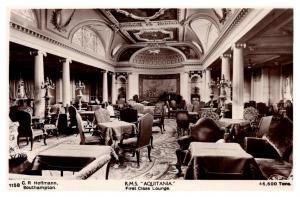 R.M.S. Aquitania , Cunard Line ,  First Class Lounge  , RPC