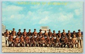 Postcard DE Rehoboth Beach The Beach Patrol Lifeguards Rex Welch c1960s T10