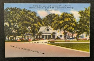 Mint Vintage Thomasville Motor Court Georgia Real Picture Postcard RPPC