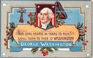 Patriotic Post Card Old Vintage Antique Postcard George Washington Writing on...