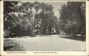 North Berwick ME Old Corner c1920 Postcard