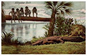 Alligator Bait , children on fallen tree limb