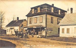 No. Shapleigh ME Dirt Street View Thing's Store Old Car RPPC Postcard