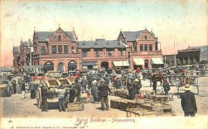 Johannesburg South Africa Market Building in 1904 Postcard