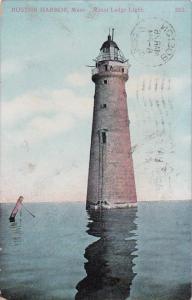 Minot Ledge Lighthouse Boston Harbor Massachusetts 1911