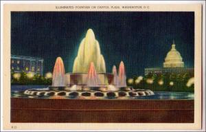 Illuminated Fountain on Capitol Plaza, Washington DC