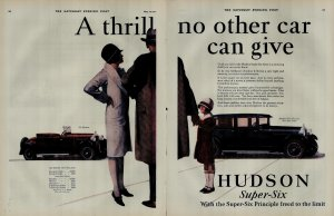 1927 Hudson Super Six Car A Thrill No Other Car Can Give Vintage Print Ad 3935