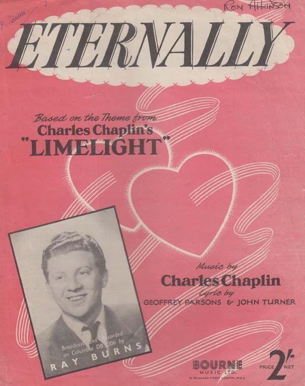 Eternally Limelight Charlie Chaplin Piano Sheet Music
