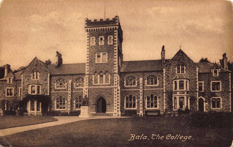 Postcard Vintage 1913 BALA The College Wales by F. Frith & Co. No.65848