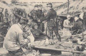 LA PANNE, Belgium, 1914; Le Roi et la Reine aux ambulances