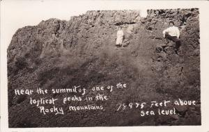 RP: Couple Near Summit In Rocky Mountains , Nr MILES CITY , MT,1904-18
