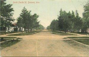 Brainerd Minnesota North Fourth Street Hohman #H-11456 C-1910 Postcard 20-12120
