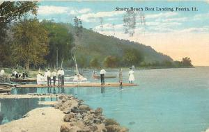 Sandy Beach Boat Landing Peoria IL Illinois 1917 D/B