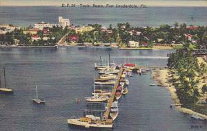 Yacht Basin Fort Lauderdale Florida Curteich