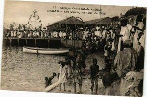 CPA AK Senegal Fortier 12. Sénégal-Dakar-Les Quais un jour de Féte (235167)