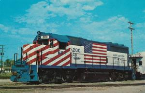 KATY 200 Locomotive in Bicentennial Colors - Parsons KS, Kansas