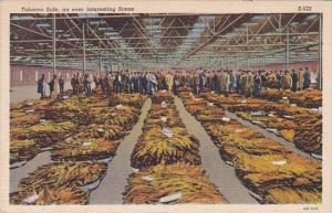 Tobacco Sale In Kentucky An Ever Interesting Scene 1943 Curteich