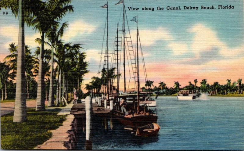 Florida Delray Beach View Along The Canal