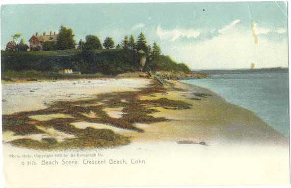 Undb beach scene crescent beach connecticut ct hippostcard undb beach scene crescent beach connecticut ct sciox Choice Image