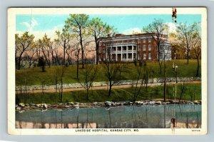 Kansas City MO-Missouri, Lakeside Hospital, Vintage Postcard