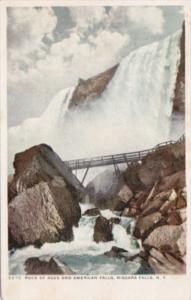New York Niagara Falls Rock Of Ages and American Falls Detroit Publishing