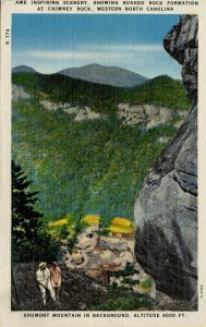 NC - View at Chimney Rock, Shumont Mtn in Background