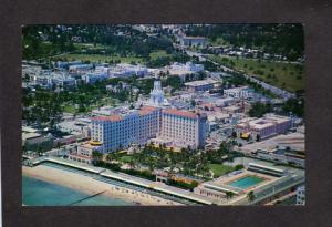FL Roney Plaza Hotel Miami Beach Florida Postcard  Pool