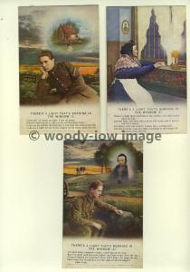 su1153 - Theres A Light Thats Burning In The Window- Set of 3 Bamforth Songcards