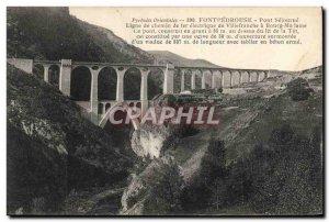 Old Postcard Fontpedrouse Fontpedouse way De Line Iron Electric Train