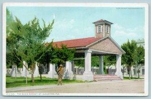 St Augustine FL~Black Americana~The Slave Market~Older Gent~1910 Detroit Pub Co