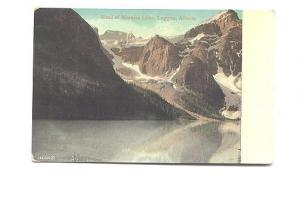 Head of Moraine Lake, Laggan,  Alberta, Valentine & Sons with Overprint Box