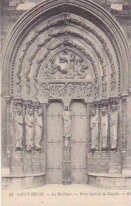 France Paris Abbaye de Saint Denis La Basilique Porte laterale de Gauche