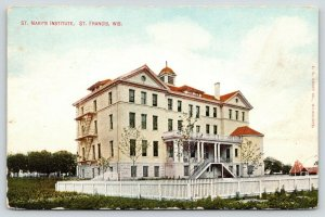 St Francis Wisconsin~St Mary's Institute~White Picket Fence~c1910