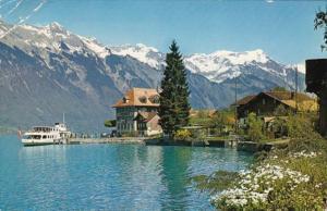 Switzerland Iseltwald am Brienzersee mit Rothorn 1970