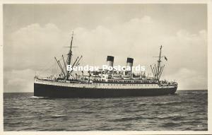 norway norge, German Steamer Monte Cervantes (1920s) RPPC