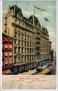 Broadway, Central Hotel, NYC