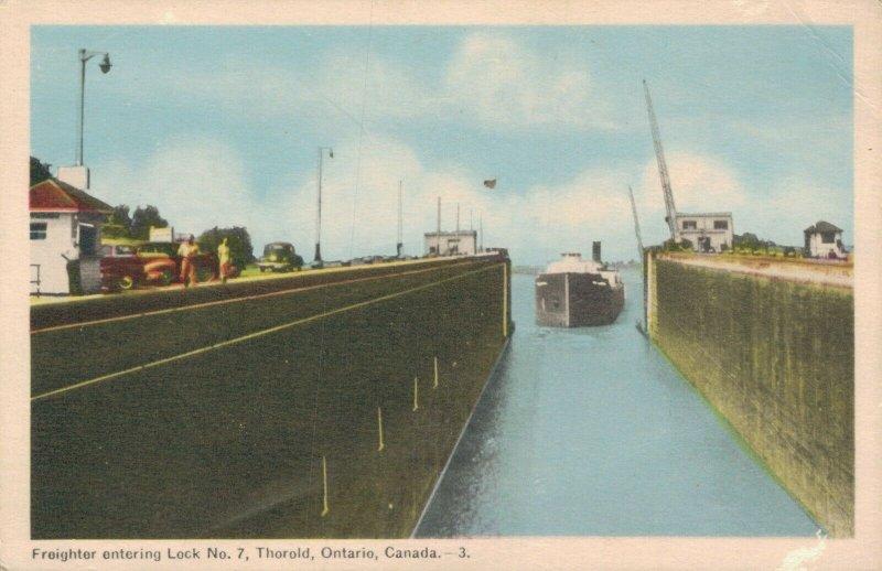 Canada Freighter entering Lock No. 7 Thorold Ontario Canada 03.28
