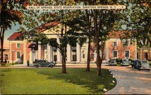 New York Saratoga Springs Hall Of Springs