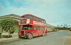Freeport Grand Bahama Double Decker Bus London Transport young woman Postcard