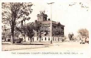 B2/ El Reno Oklahoma Ok Photo RPPC Postcard 1942 The Canadian County Court House
