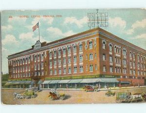 Unused Divided-Back LOYAL HOTEL Omaha Nebraska NE Q6558
