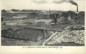 S. D. Warren's Paper Mills Westbrook ME Unused