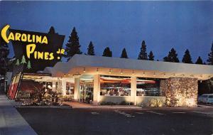 Hollywood California~Carolina Pines Jr~La Brea @ Night~People Dining Inside~'50s