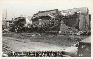 RP: BUNKERHILL , Illinois , 1948 ; Tornado , Damaged Bldg